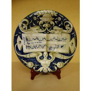 Piatto ceramica grottesco - antica ceramica casteldurante